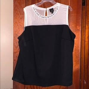black and white tank top with jewels